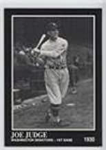 Joe Judge (Baseball Card) 1991 The Sporting News Conlon Collection - [Base] #68