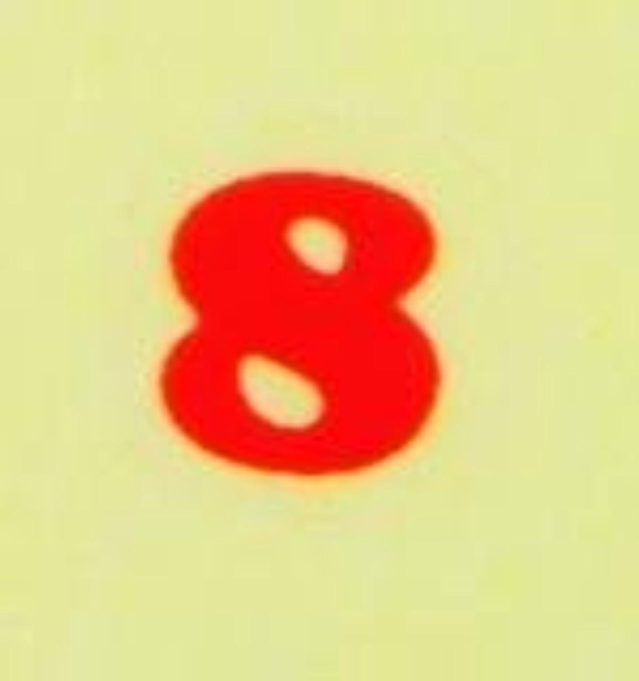 センブランスマインド指【数字ネイルシール】2明朝体8RD/各1シート9枚入