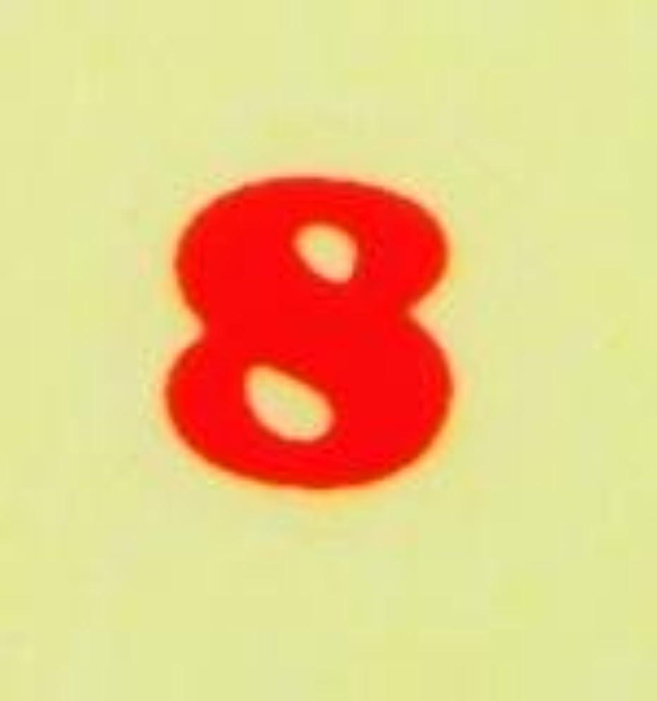 献身統計湿った【数字ネイルシール】2明朝体8RD/各1シート9枚入