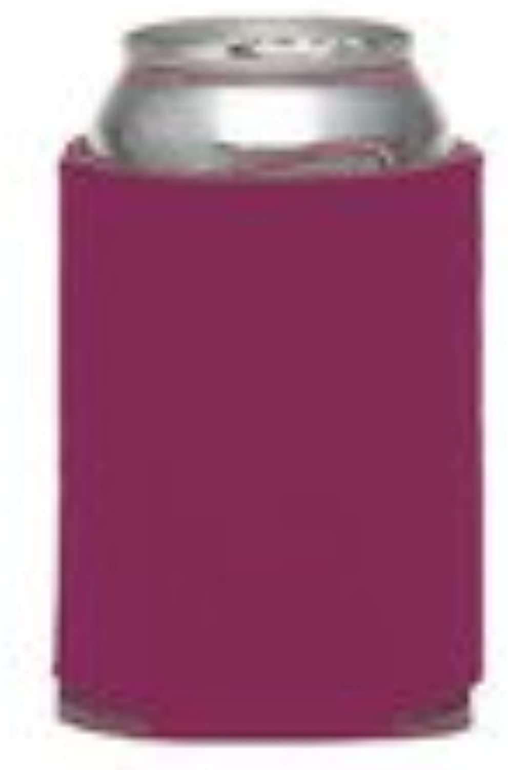 6 Fuchsia Collapsible Can Coolers for Sublimation Or Screen Printing