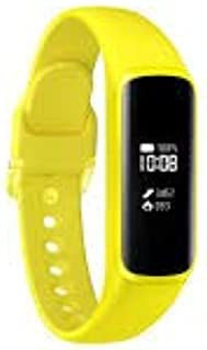 Samsung Galaxy Fit E 2019, Fitness Band, Pedometer, Heart Rate & Sleep Tracker, PMOLED Display, 5ATM Water Resistance, MIL-STD-810G, Bluetooth Active SM-R375 - International Version (Yellow)
