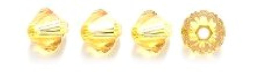 Swarovski 5328 Xilion Bicone Diamond Beads, Transparent, Sunflower, 5-mm, 24/Pack