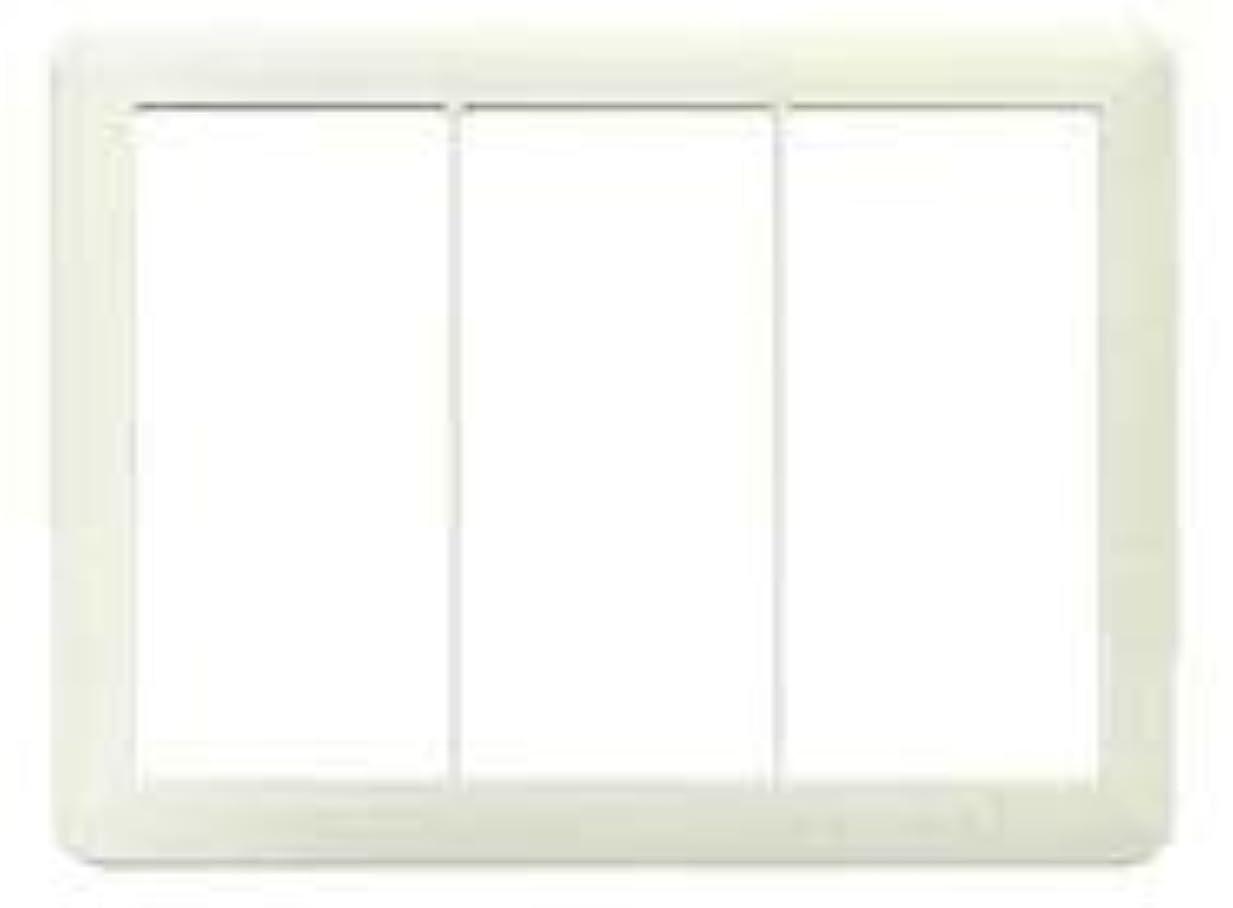 現れる観客信念神保電器 J?WIDEシリーズ スイッチプレート 3連用 ピュアホワイト WJP-3