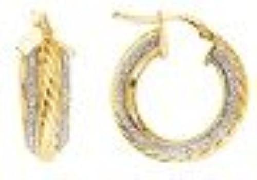Sterling Silber Gelb VerGoldet Spaßkle Ohrringe 20  rund Hochglanz mit Seil Element