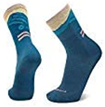 Le Bent Le Lucy Trail Running Ultra Light Cushion 3/4 Crew Height Sock, Morrocan Blue, Medium