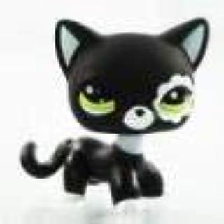 Sonmer Cute Rare Black Cat Green Eyes Flower Patch Kids Toy Littlest Pet
