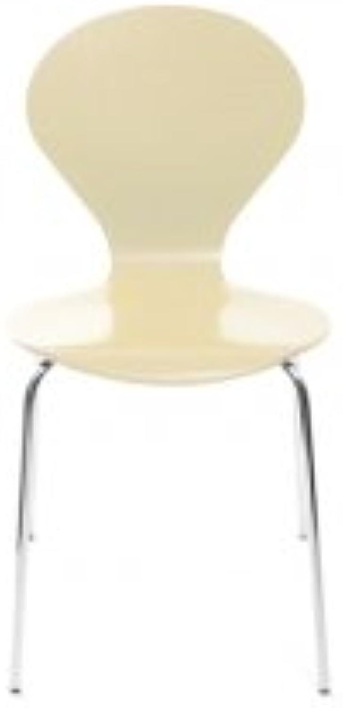 Konferenzstuhl Stuhl Rondo von Danerka in Elfenbein
