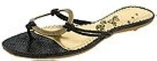 Naughty Monkey Women's Loop De Loop Sandal,Black,6 M