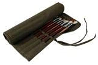 Estuche para pinceles de pintura con 22 agujeros, bolsa de lona enrollable para pinceles de acuarela de artista, verde militar Tamaño libre Army Green: Amazon.es: Hogar