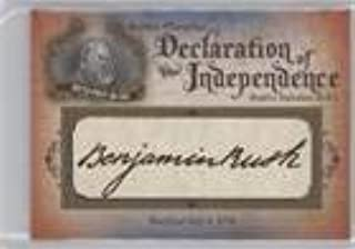 Benjamin Rush #70/76 (Trading Card) 2016 Upper Deck Goodwin Champions - Declaration of Independence Facsimile Signature Relics #DOI-6
