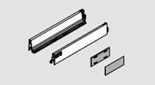 "Blum 358M4502I R+L TANDEMBOX Plus 18"" Long x 3-3/8"" High Drawer Profiles in Stai, INOX"