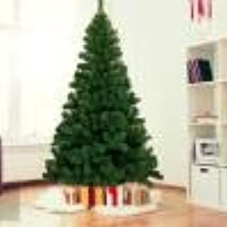 7.5ft Artificial Christmas Tree Hinged, Fir Pencil Xmas Tree Real Feel, with Metal Foldable Stand, Ideal for Indoor and Ou...