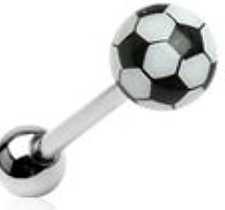 Balón de fútbol diseño de lengua con brillante de fútbol: Amazon ...