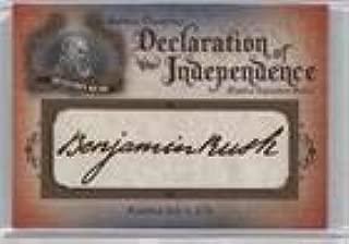 Benjamin Rush #73/76 (Trading Card) 2016 Upper Deck Goodwin Champions - Declaration of Independence Facsimile Signature Relics #DOI-6