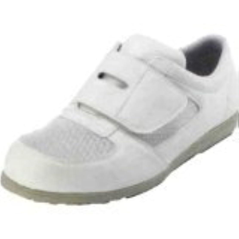 酔っ払い老人無し[武蔵野ユニフォーム] 安全靴 シモン静電靴 CA-61メッシュ靴 白 【2311451?2311450】