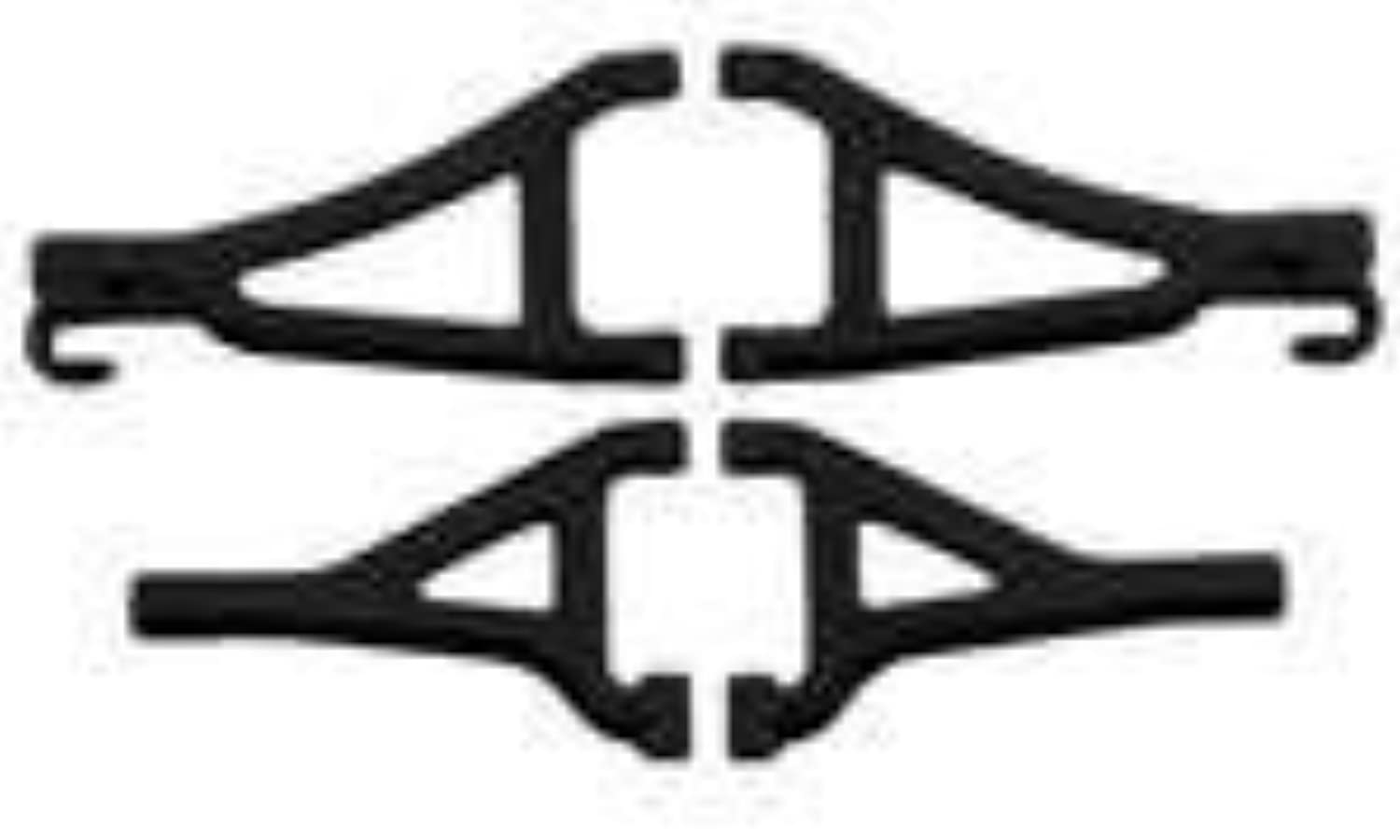 RPM 80692 Front Upper Lower AArms Black 1 16 ERevo by RPM