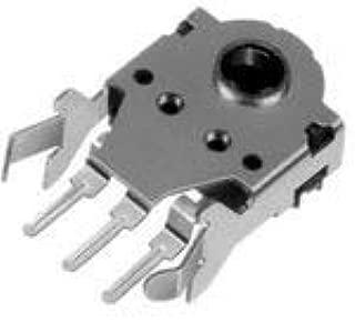 Mechanical Encoder Rotary Incremental Hollow 5mN-m Right Angle Quadrature Digital Square Wave 12PPR Through Hole PC Pins 50 Items EC10E1220501