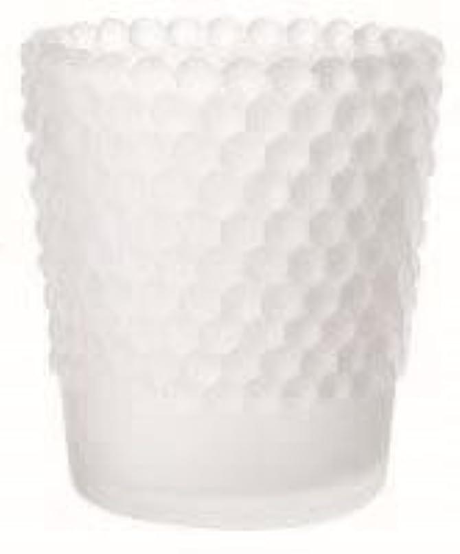 付属品議論する暖かくカメヤマキャンドル(kameyama candle) ホビネルグラス 「 フロストホワイト 」6個セット