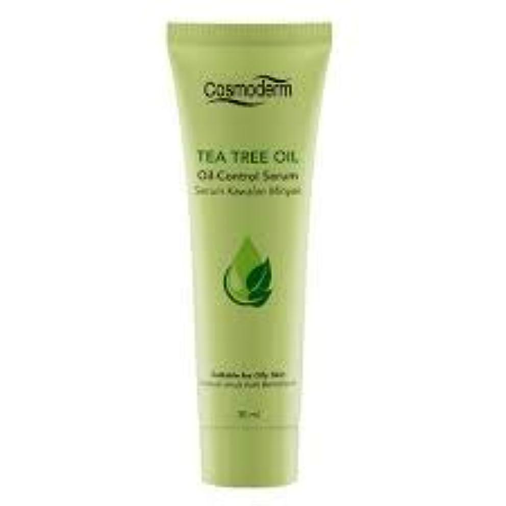 有効なパンフレット桃COSMODERM ティーツリーオイルコントロールセラム30ml - 吹き出物、にきびやにきびを削減します。毛穴の邪魔を除く、石油生産を制御します。肌の自然な水分を復元します。