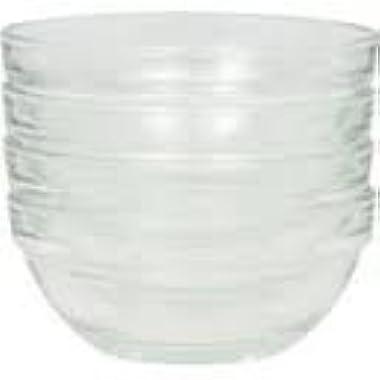 4 Small Glass Prep Bowls, 3.5 Inch Diameter