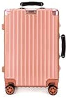 GLJJQMY Luggage Box for Men and Women Trolley Aluminum Frame Luggage Universal Wheeled Lock Password Box Trolley case (Color : Rose Gold, Size : 24 inch)