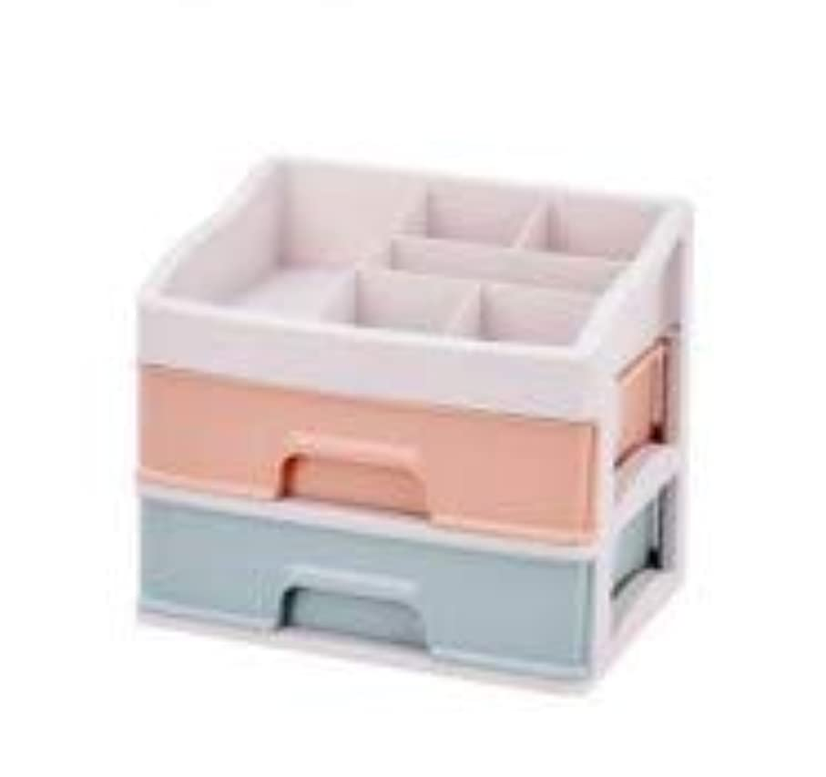 指標端末繰り返した化粧品収納ボックス引き出しデスクトップ収納ラック化粧台化粧品ケーススキンケア製品 (Size : M)