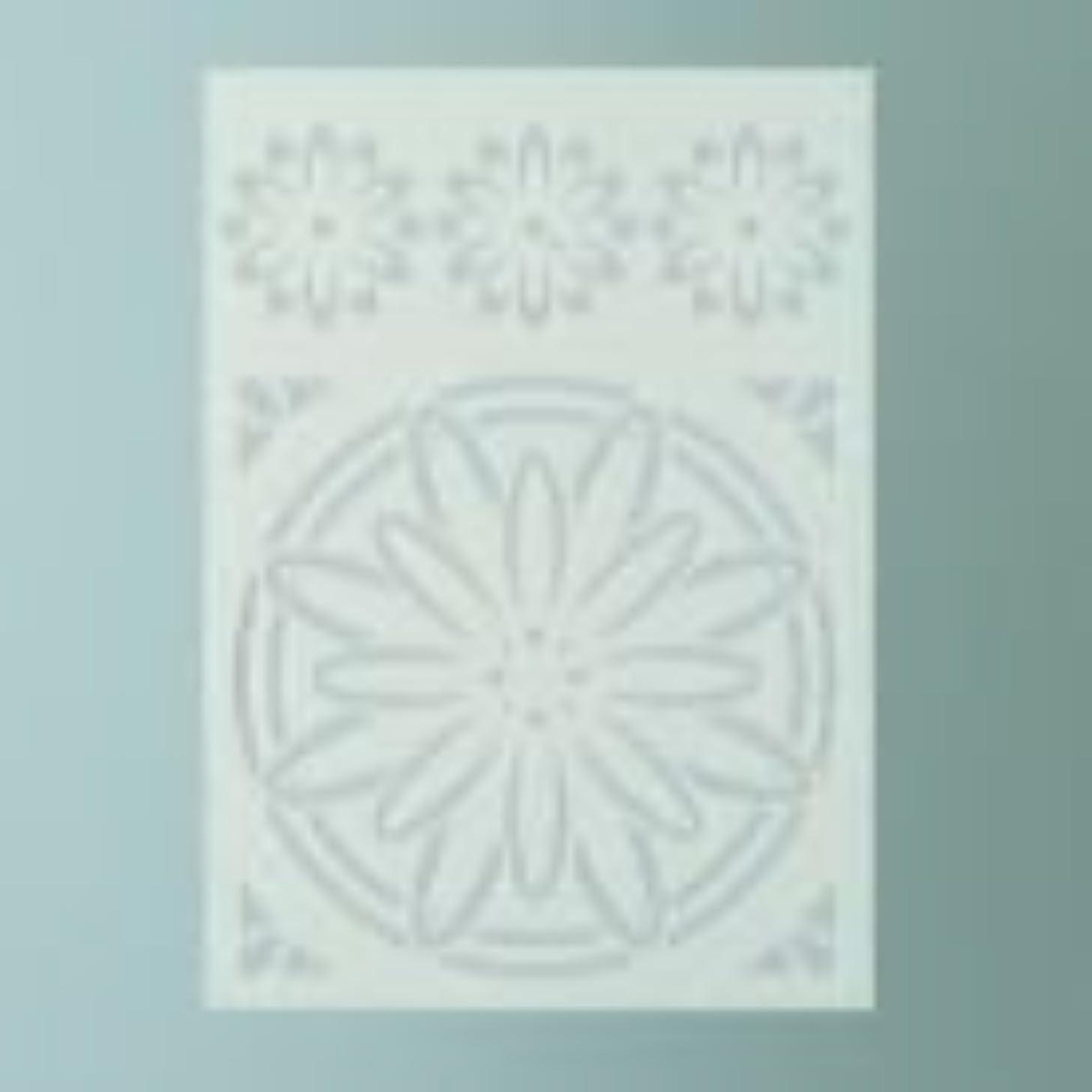 Efco Blossom Stencil in 2 Designs, Plastic, Transparent, A5