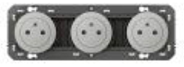 Legrand LEG95249 3X2P+T Surf ALU dooxie Triple Prise de Courant 2p+t Surface pre-cablee Aluminium Compos