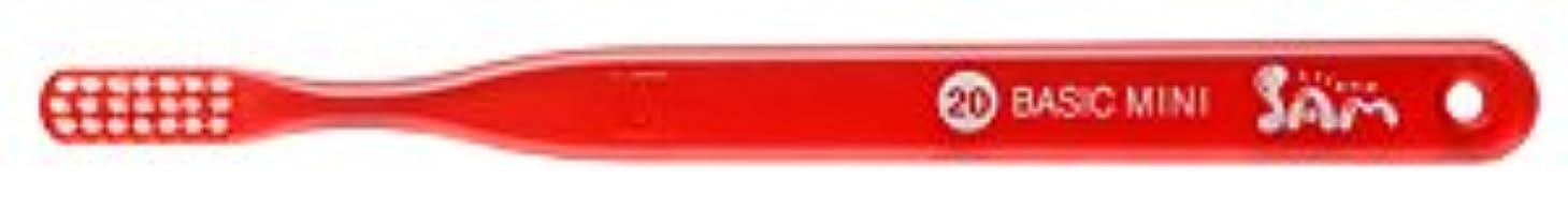 大きさ家禽忌まわしい【サンデンタル】サムフレンド ベーシックミニ?ミディアム #20 30本【歯ブラシ】【ふつう】6色入 アソート