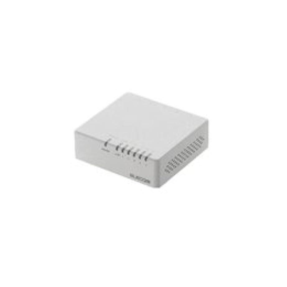 収まる早い請求【まとめ 4セット】 エレコム 100BASE-TX対応スイッチングハブ EHC-F05PA-W