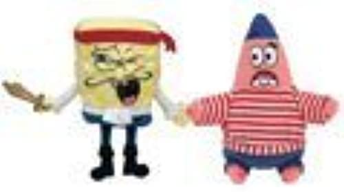 TY Beanie Babies - CAPTAIN SPONGEBOB & FIRST MATE PATRICK (Set of 2) by Ty