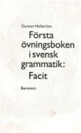 Första övningsboken i svensk grammatik Elevfacit