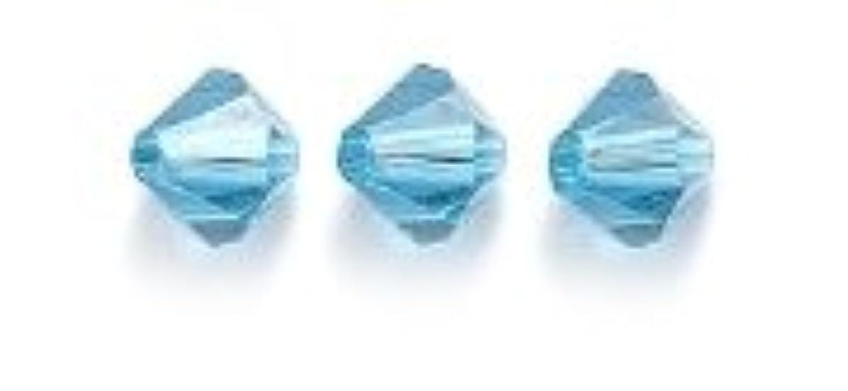 Swarovski 5301 Bicone Diamond Beads, Transparent, Indicolite, 5-mm, 24/Pack