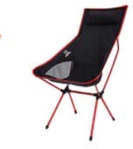 HoEOQeT Chaise Pliante extérieure Ultra-légère en Alliage d'aluminium, Chaise de Lune de Loisirs pour la pêche au Dos