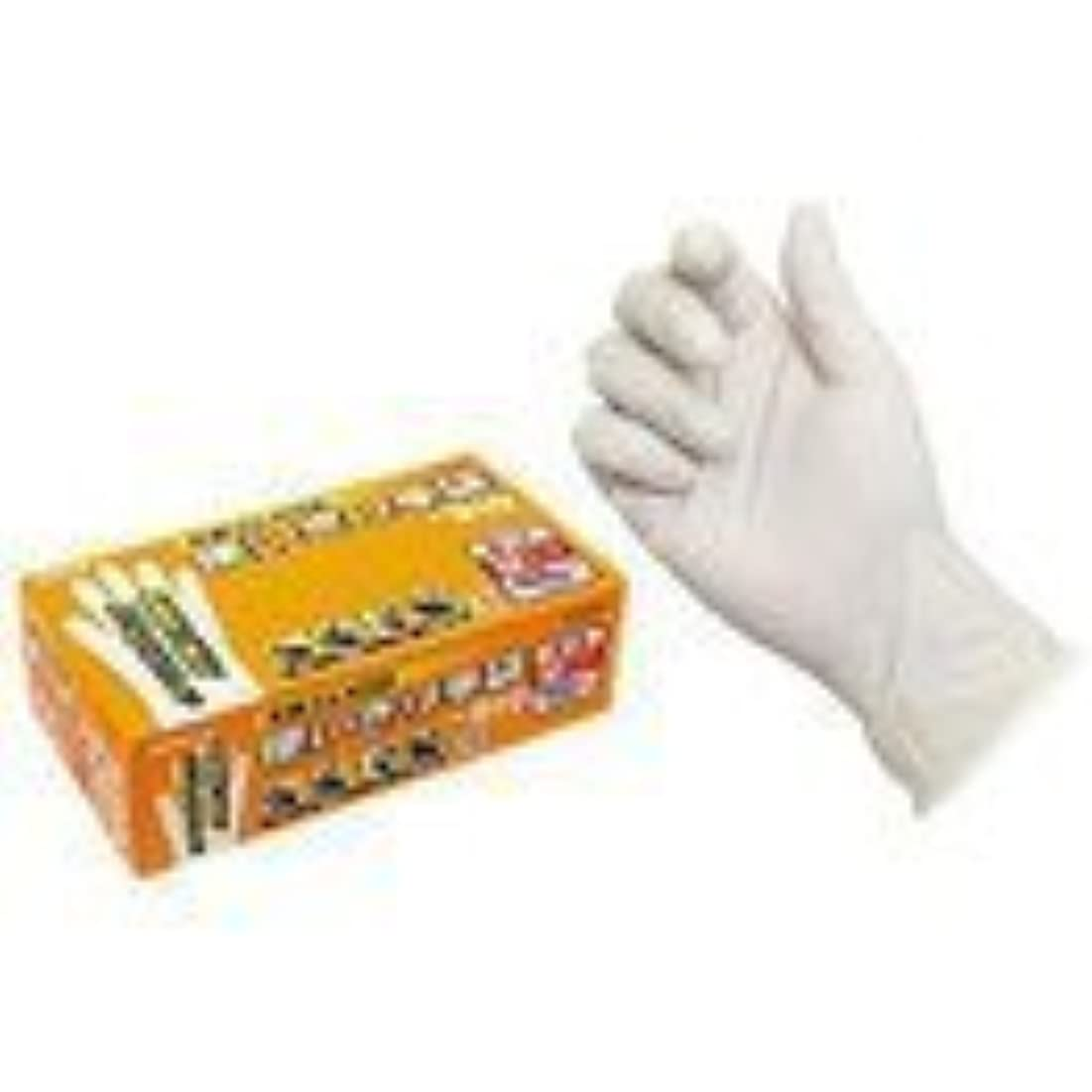 腐敗ファランクス豊富にエステー 天然ゴム使いきり手袋(粉つき) 100枚入x12箱 NO.910 M