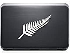05 inch // 13 cm Wide Size - Color Matte WHITE New Zealand Silver Fern Decal Sticker Car Truck Motorcycle Window Ipad Laptop Wall Decor