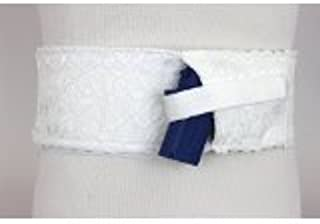 Daltech Force Women's Lace Side Load Belly Band - White (XLarge)