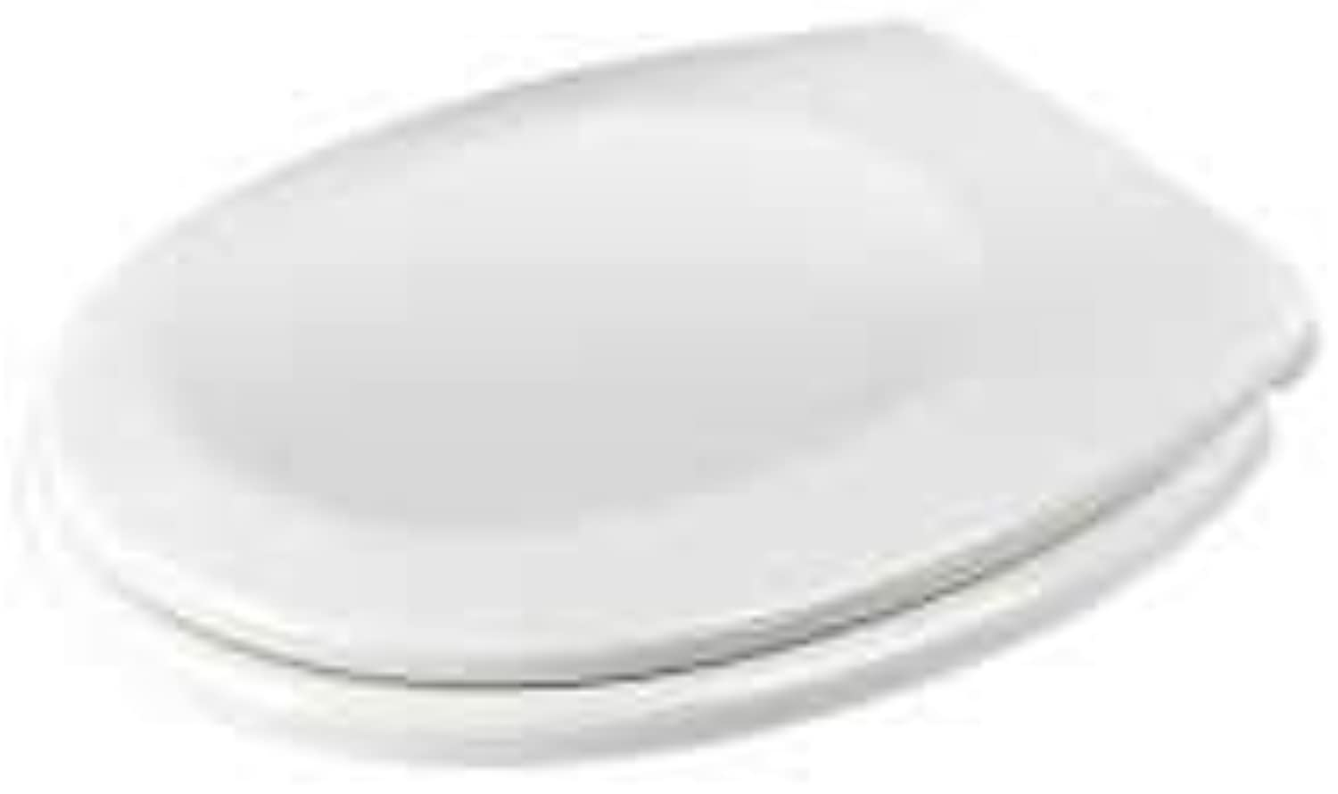Toilet Seats O-Type Urea-Formaldehyde Resin Thicken Ultra Resistant Toilet CoverWith Cover Fitting Kits Suitable (White)