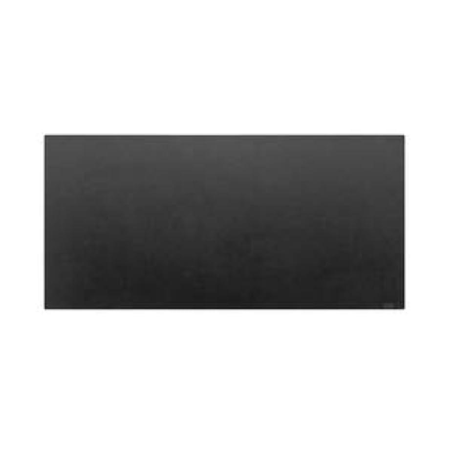 動く水を飲む合図高級PVCレザー デスクマット 【01:ブラック】 620×300mm カット可 日本製 〔DIY素材 背景 クラフト用品〕
