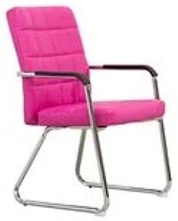 CHANG-Sillas Silla de recepción, Silla cómoda y Suave Resistente al Desgaste Silla fácil de Limpiar Escritorio del Ordenador y Silla de Escritorio (Color : Rosa roja)