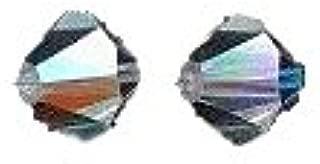 SWAROVSKI ELEMENTS, Crystal, Swarovski 5328 Xilion Bicone Diamond Beads, Aurora Borealis, 8-mm, 6/Pack