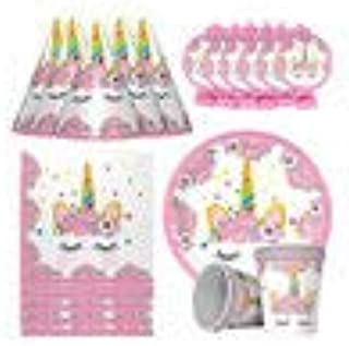 PARTY TIME - 30Pcs. Unicorn Party Theme Supplies Pack, Comes Disposable Tableware Birthday Party Decoration Set, Serve 6, ...