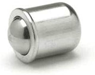 Short Press-Fit Delrin Ball Plunger-Stainless Steel .197