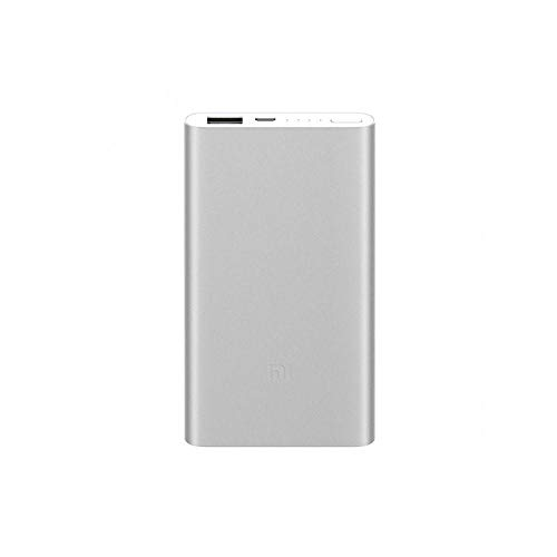 Xiaomi Mi Power Bank2 , Batería Portátil Li-Pol De 5000Mah, Usb-A, Micro Usb, 14.1Mm, Color Plata.