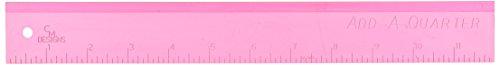 """CM Designs Ruler 12"""" Add-A-Quarter Pink CMDsnsRuler12AddAQuarterPink"""
