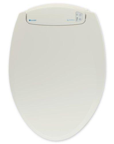 Brondell L60-EB LumaWarm Heated Nightlight Elongated Toilet Seat, Biscuit