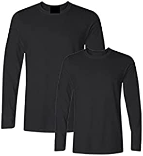 Wanxiaoyyyinnscx Long Sleeve Shirts, Solid Color Mens Cotton T-shirt Men Long Sleeved O-neck Casual Men T Shirt Plus Size ...