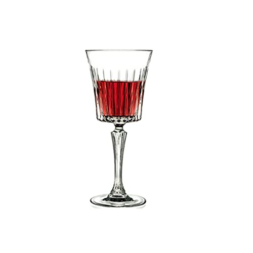 FEANG Wine Glasses Wine Glasses - Set Of 6 - Crystal Glass with Long Stem. Drinking Glassware for Wine Tasting - Best Gift Wedding, Anniversary Champagne Glasses (Color : 290ml)