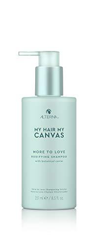 Alterna Haircare Mi pelo mi lienzo Más para amar Champú corporal vegano, 8.5 fl oz   Caviar botánico, aporta plenitud y movimiento al cabello   Sin sulfatos