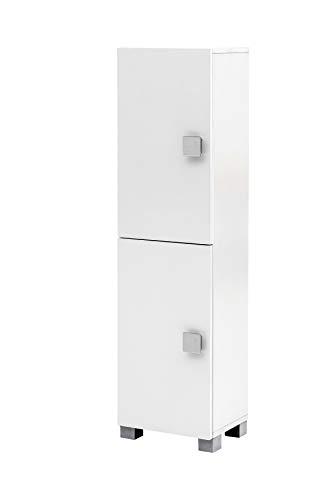 Schildmeyer Edia Midischrank, 140038, weiß glanz, 30,3 / 23,3 / 113,2 cm